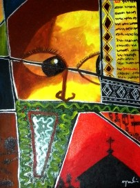 """Songs of Dawit, Acrylic on Canvas: 12"""" x18"""" 2009 SOLD"""