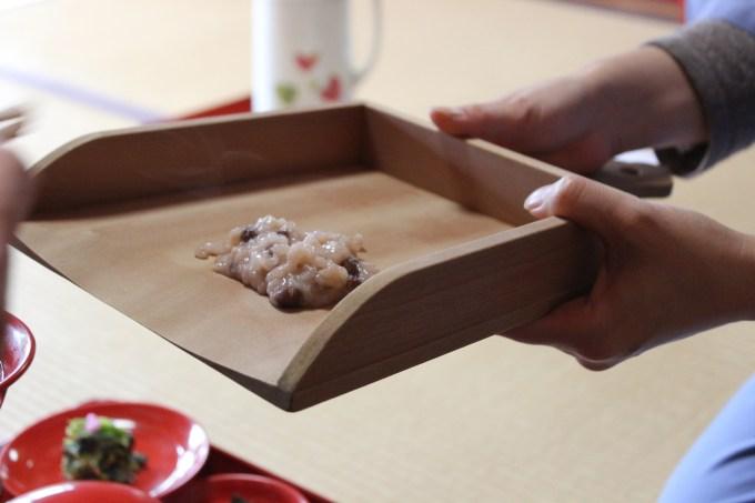 妙心寺 小豆粥で新春を祝う会 手