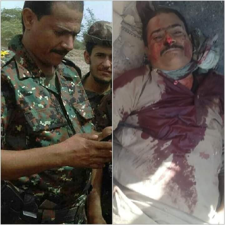 عاجل.. ناشطون يتداولون صوراً لمصرع قائد حوثي يعمل قائدا بوحدات الأمن المركزي الحوثية