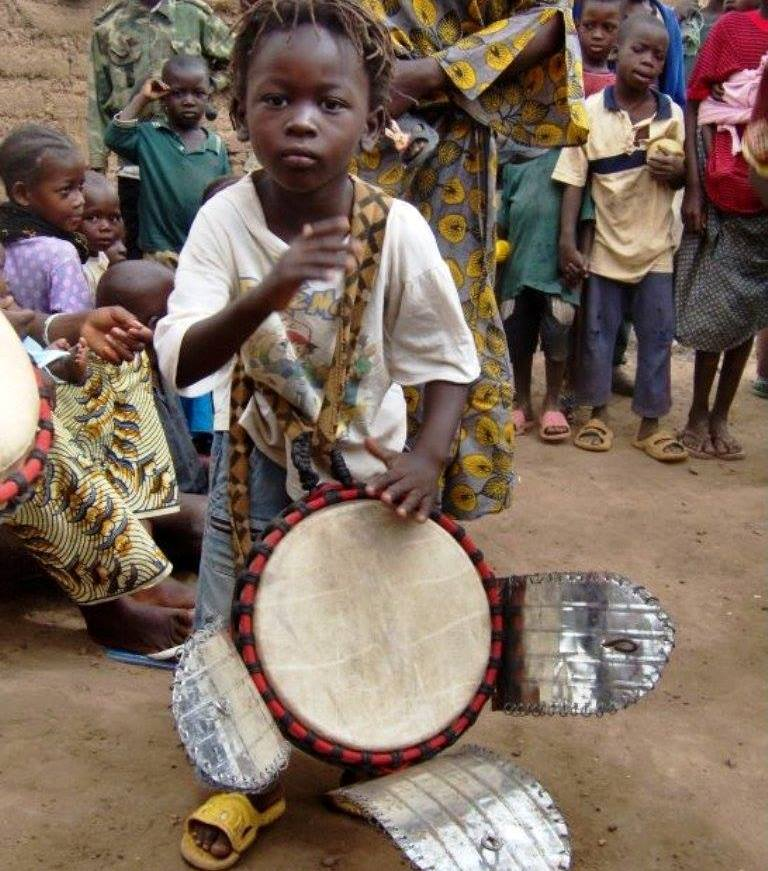 young djembe player