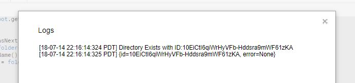 Successful Directory Search