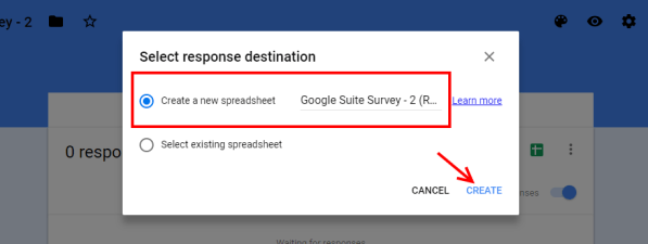 Create a Google Sheet From a Google Form