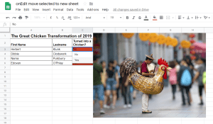 Google Apps Script – When I add a value to a cell in a selected column, I want it to move to another Google Sheet