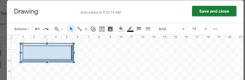 Google Sheets bevel shape 2
