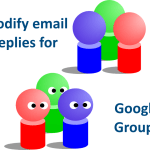 modify email replies for google groups