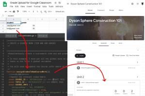 Google Apps Script: Upload grades into a Google Classroom Coursework Assignment