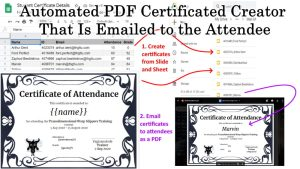 Google Apps Script: Automated PDF Certificated Creator That Is Emailed to the Attendee