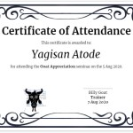 Certificate of attendance using Google Slides