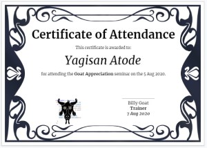 Certificate of attendance using Google Slides