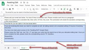 Google Sheet Email Template for Google Sheets details
