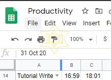 Google Sheets Paint Format button