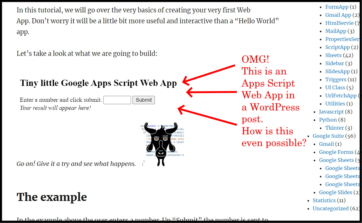 Google Apps Script: How to create a basic interactive interface with Web Apps