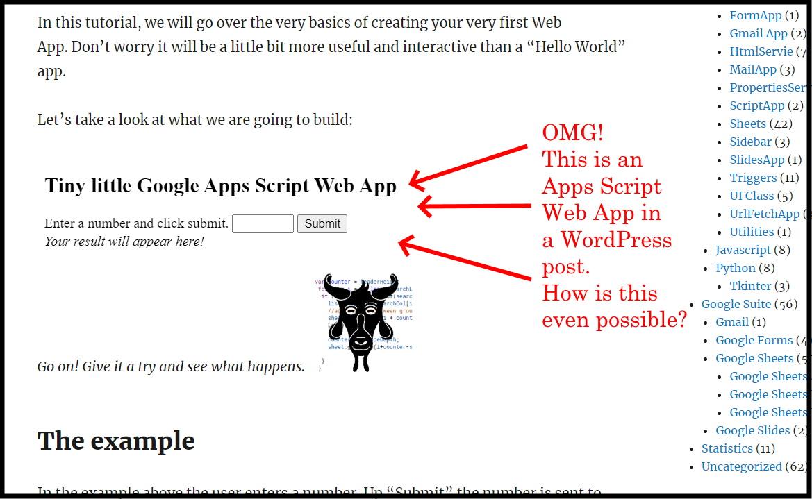 Google Apps Script Web App title image