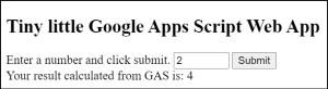 Tiny little Google Apps Script Web App success condition