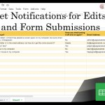 24 Google Sheets Shorts - Get Notifications for Edits and Form Submissions