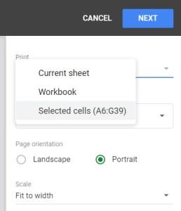 Google Sheets Recipe Template Print Sheet Tab setup