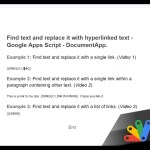 Find and replace text with a link in Google Apps Script using DocumentApp