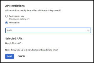 Apps Script Project Settings for GWAO Create API Key in Google Cloud Console 6
