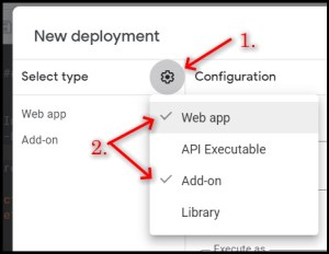 Apps Script Project Settings for GWAO New Deployment