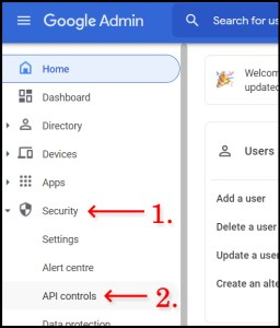 Enable Admin SDK on Google Workspace Admin Console V2