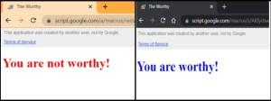 validated and invalidated HTML
