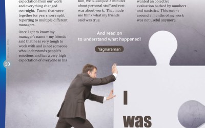 I was pushed… My first article published in a Magazine