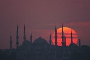 غروب الشمس فس اسطنبول