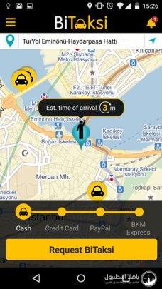 تطبيق سيارات الاجرة في اسطنبول