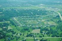 Suburban development near Sun Prairie.