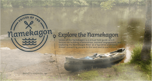 "Homepage for art-science collaboration ""Voices of the Namekagon"""