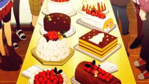 Series of Christmas cakes & Christmas log cakes. (The Idolm@ster)