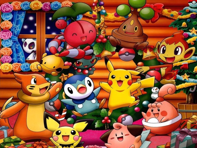 Pikachu Amp His Friends Are Enjoying Christmas Party