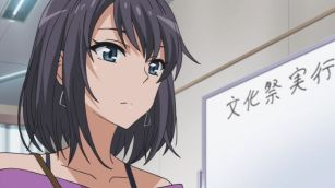 Yukinoshita Haruno (雪ノ下 陽乃) is estimating Sagami Minami (相模 南). (Yahari Ore no Seishun Love Comedy wa Machigatteiru. Yahari Ore no Seishun Love Come wa Machigatteiru. Yahari Ore no Seishun Rabukome wa Machigatte Iru. Oregairu My Youth Romantic Comedy Is Wrong, as I Expected. My Teen Romantic Comedy SNAFU やはり俺の青春ラブコメはまちがっている。 俺ガイル 果然我的青春戀愛喜劇搞錯了。 anime ep 10)