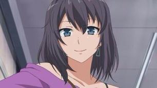 Yukinoshita Haruno (雪ノ下 陽乃) sympathizes with Hikigaya Hachiman (比企谷 八幡). (Yahari Ore no Seishun Love Comedy wa Machigatteiru. Yahari Ore no Seishun Love Come wa Machigatteiru. Yahari Ore no Seishun Rabukome wa Machigatte Iru. Oregairu My Youth Romantic Comedy Is Wrong, as I Expected. My Teen Romantic Comedy SNAFU やはり俺の青春ラブコメはまちがっている。 俺ガイル 果然我的青春戀愛喜劇搞錯了。 anime ep 11)