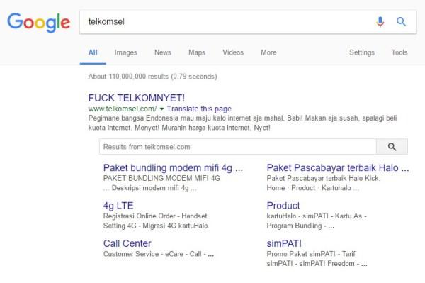Web Telkomsel Dihack