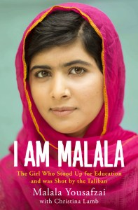 I Am Malala book cover with headshot of Malala Yousafzai