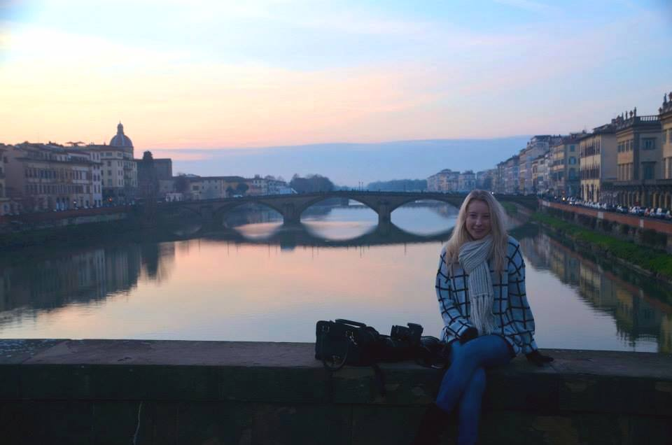 Amy in Florence, Italy