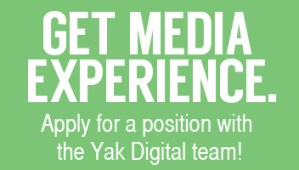 Get media experience. Apply for a position with the Yak Digital team!
