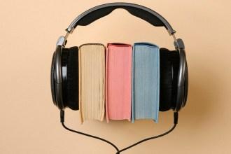 Books wearing earphones