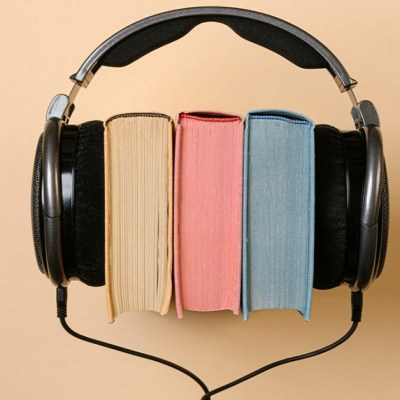 Books wearing earphones