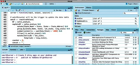 Create R shiny apps on your desktop to publish on YakData brightRserver