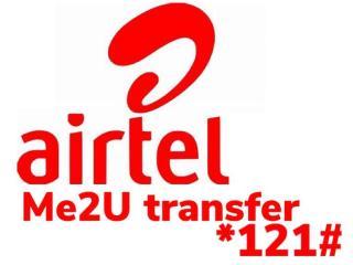 3 airtel me2u codes for  transferring  credits