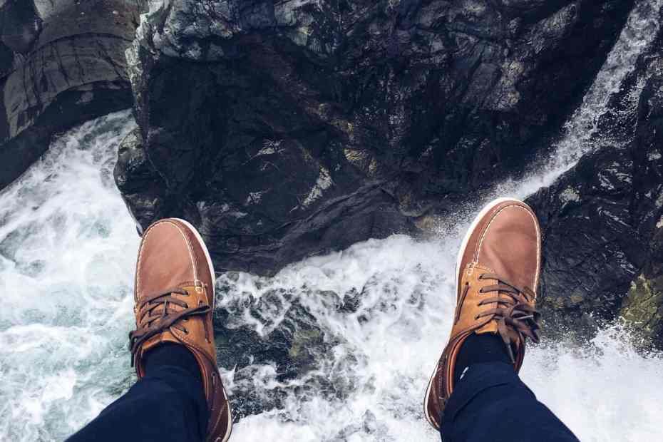 Shoes over water