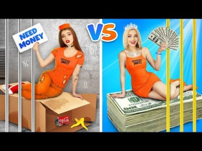 Rich Jail vs Broke Jail || Awkward Situations with Prisoners and DIY Ideas by RATATA COOL