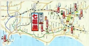 画像:鎌倉七福神巡りの地図