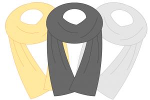 結婚式でストールの巻き方、結び方。色と素材選び。マナーについてお伝えします。