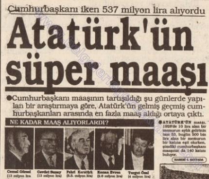 Atatürk öğretmen maaşı