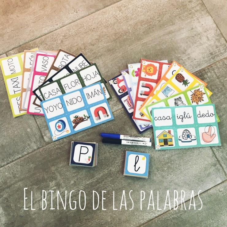 el bingo de las palabras