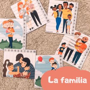puzzles de la familia