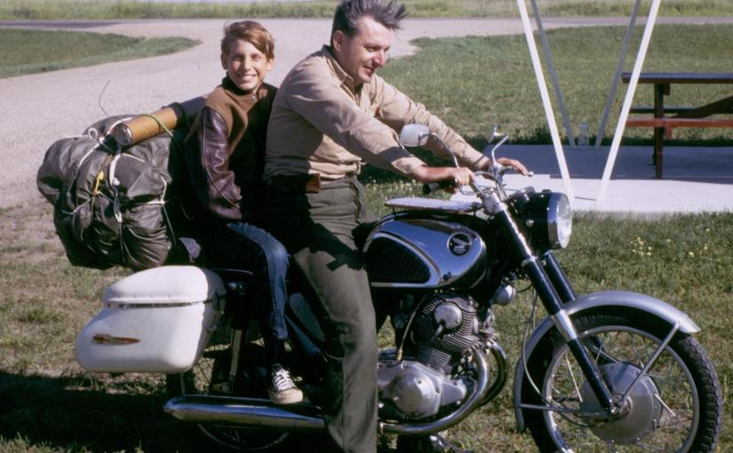 Robert Pirsig and his son Chris